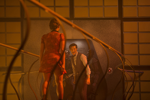 The Doctor (Matt Smith) shouts at Clara (Jenna Coleman) in episode Journey To The Center Of The Tardis