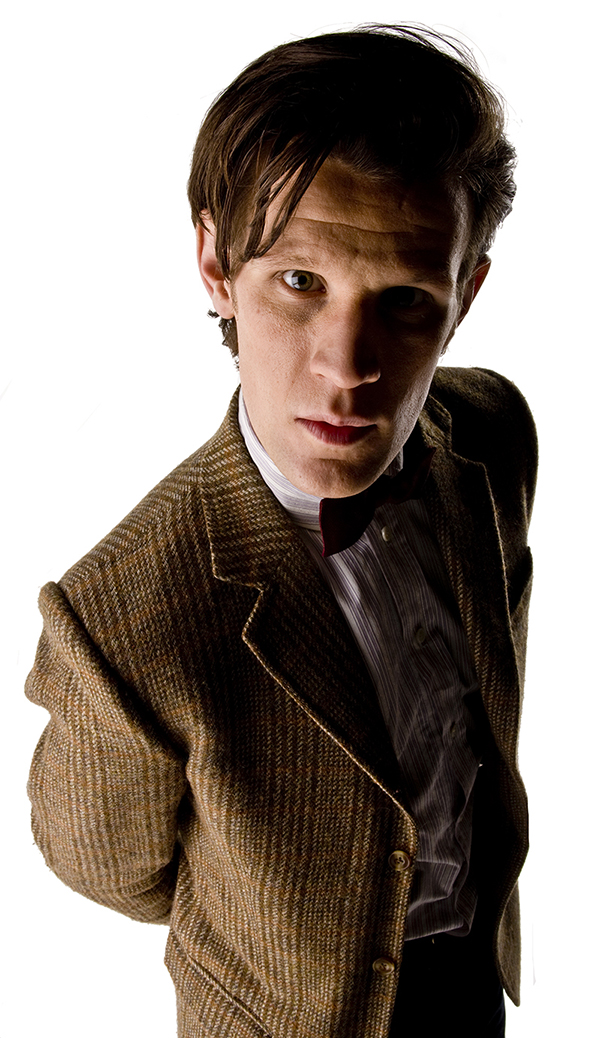specials photo of Matt Smith as The Doctor on white background