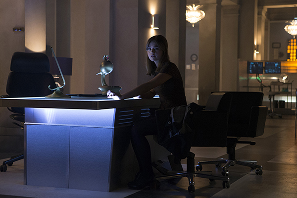 unit production still photo of Clara in office