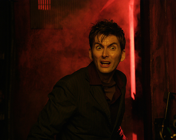 unit still The Doctor in steamy red lit corridor