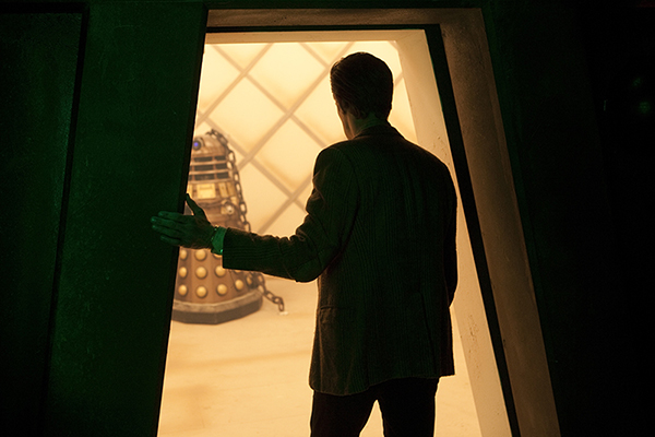 film still of Matt Smith as the Doctor from the episode Asylem of the Daleks