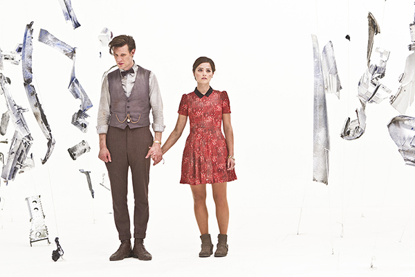 The Doctor and Clara at the center of the Tardis