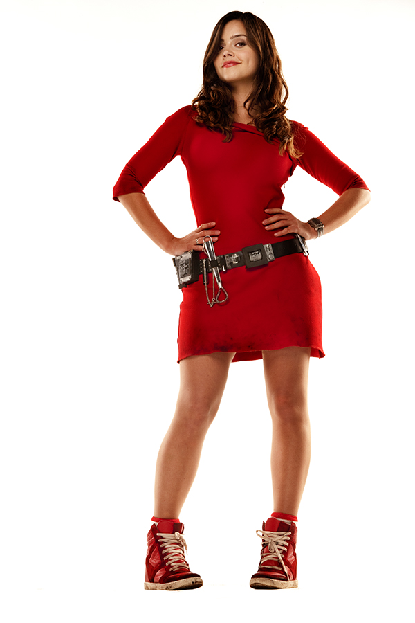 specials photograph of Jenna Coleman as Oswin from the Doctor Who episode Aslylem of the Daleks