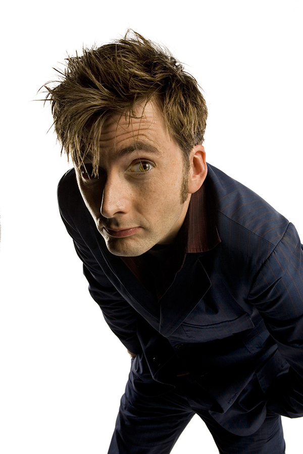 David Tennant as The Doctor in blue suit