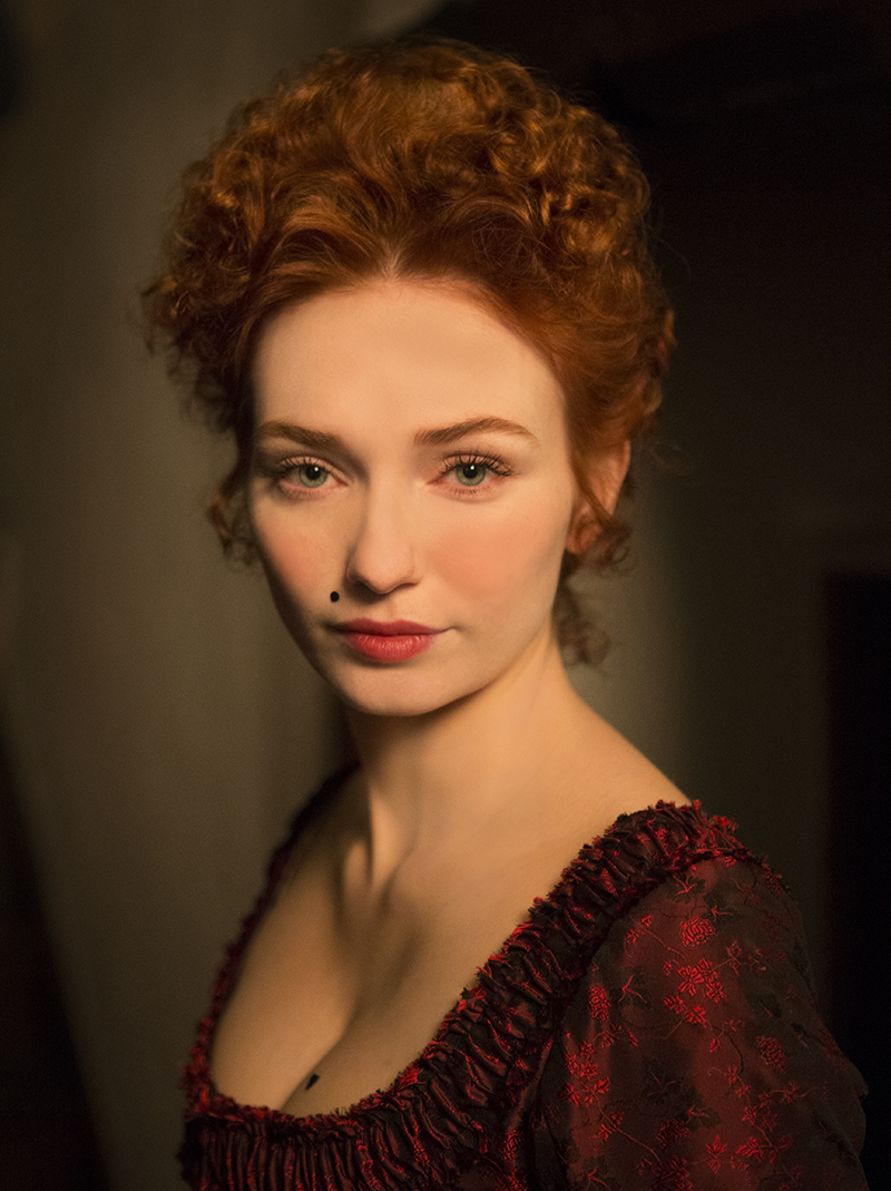 Demelza (Eleanor Tomlinson) red dress portrait