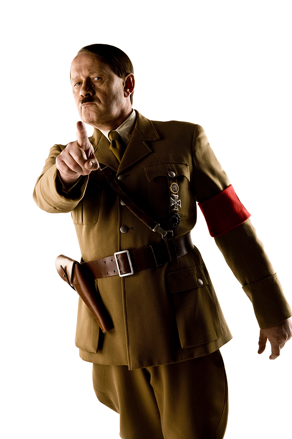 specials production photo of Albert Welling as Adolf Hitler in the Doctor Who episode Let's Kill Hitler