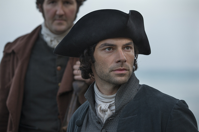 Poldark (Aiden Turner) with Captain Henshawe (John Hollingworth)