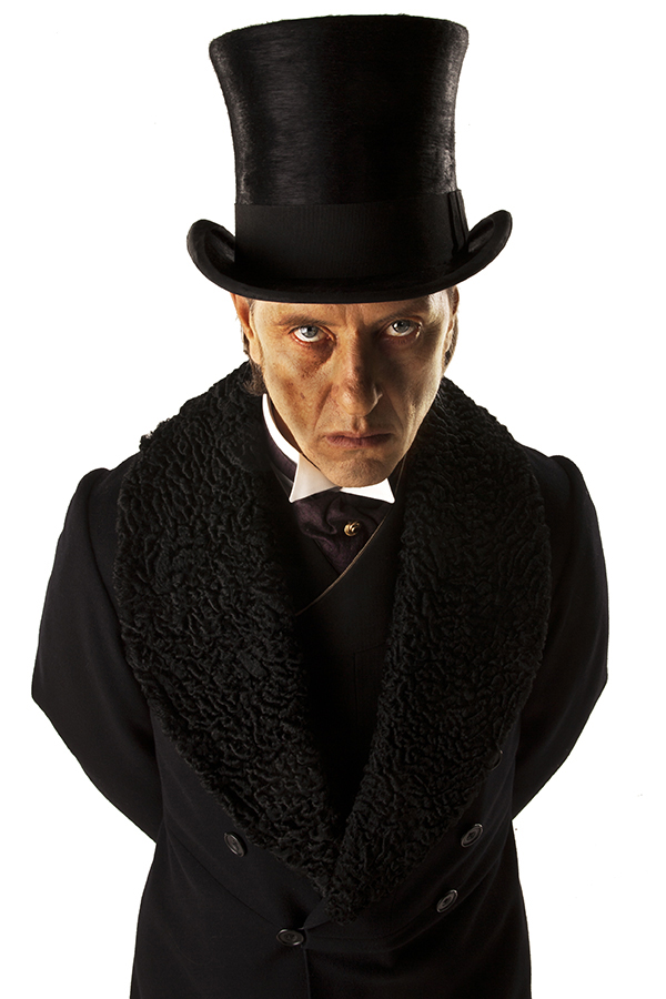 specials still photograph of Richard E Grant as Simion from the Doctor Who episode The Name of the Doctor photographed on white background